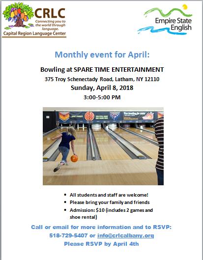 April bowling event