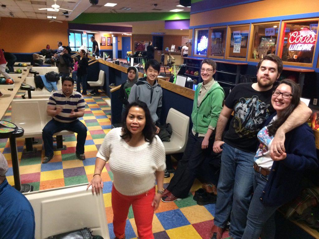 April bowling fun