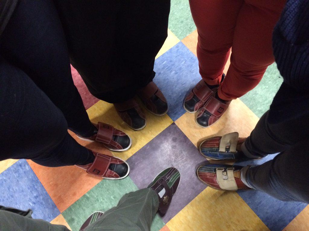 April bowling shoes